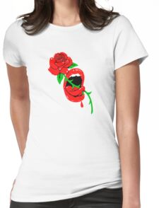 Thorny rose tongue  Womens Fitted T-Shirt