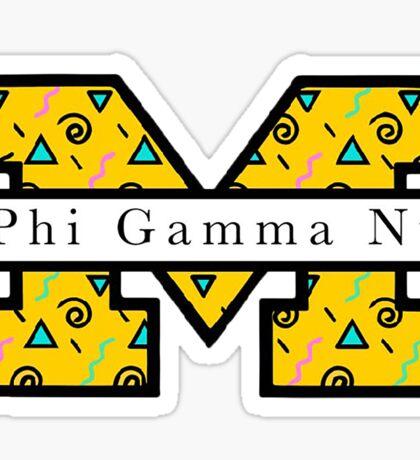 PHI GAMMA NU 90's BLOCK M Sticker