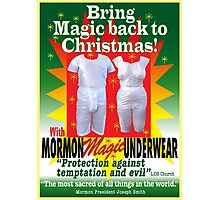 Mormon Underwear...Incredible but true! Photographic Print