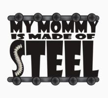 My Mommy Is Made Of Steel - Scoliosis Awareness One Piece - Long Sleeve