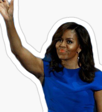 Michelle Obama Wave Sticker