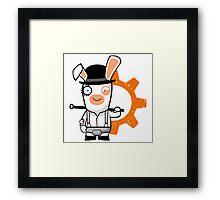Alex the Rabbid Droog Framed Print