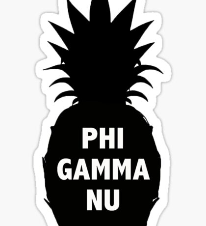 Phi Gamma Nu Pineapple Sticker