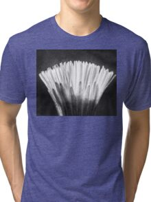 The Fragile Blooming (Xray flower in black white) Tri-blend T-Shirt
