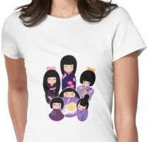 Kokeshi in Purple Womens Fitted T-Shirt
