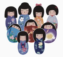 Kokeshi in Bloom Baby Tee