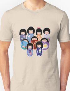 Kokeshi in Bloom T-Shirt