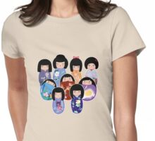 Kokeshi in Bloom Womens Fitted T-Shirt