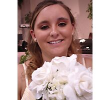 Becky on her wedding day Photographic Print