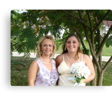 Becky and I before her wedding Canvas Print
