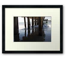 piers, beach Framed Print