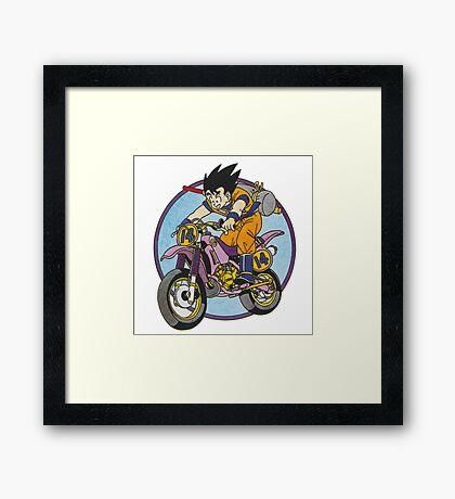 Motorcycle Goku Framed Print