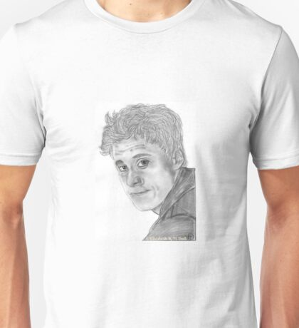 """Hoban """"Wash"""" Washburn from Firefly/Serenity hand drawn in charcoal. Unisex T-Shirt"""