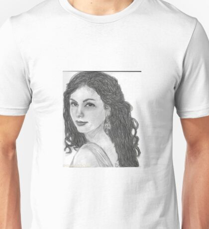 Inara Serra from Firefly/Serenity, hand drawn in charcoal. Unisex T-Shirt