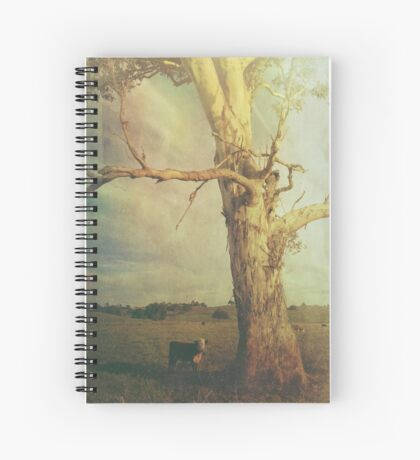 A Cow and a Gum Tree Spiral Notebook