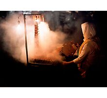 Market smoke Photographic Print