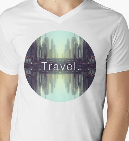 Travel. Dubai Mens V-Neck T-Shirt