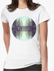 Travel. Dubai Womens Fitted T-Shirt