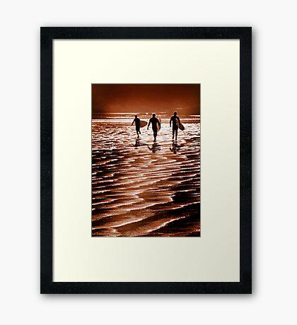 Surfin' fun Framed Print