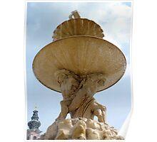 Salzburg - baroque fountain Poster