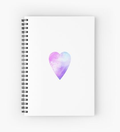 Galaxy Heart Spiral Notebook