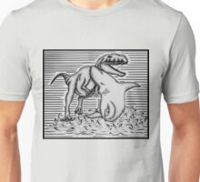Shark Fighting A Dinosaur Unisex T-Shirt