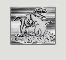 Shark Fighting A Dinosaur Unisex T-Shirt