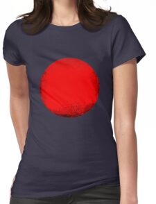 red circle Womens Fitted T-Shirt