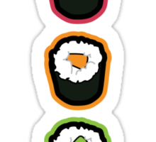Sushi Traffic Light Night  Sticker