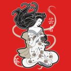 Black Tea Geisha by thickblackoutline