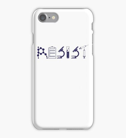 Resist – Science Political Protest iPhone Case/Skin