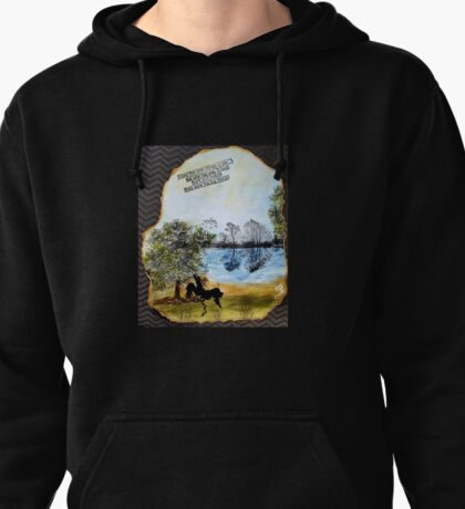 Mixed Media Girl On Swing Pullover Hoodie