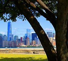 World Trade Center from Ellis Island by Lev7