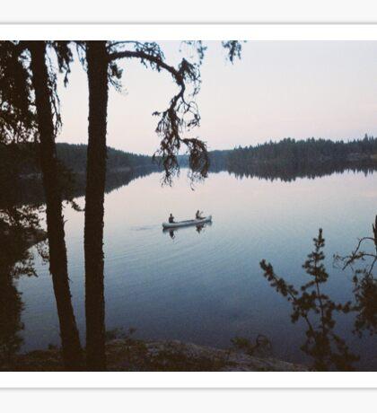 Canoe on Glassy Water Sticker