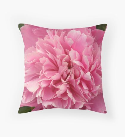 Pink Peony Throw Pillow