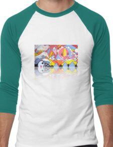 Collaboration Painting - mikoto & Shannon Crees (also a 2 minute time lapse video!) Men's Baseball ¾ T-Shirt