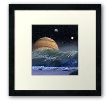 """Alien Landscapes-""""Surfs up-Evers Pipe"""" Framed Print"""