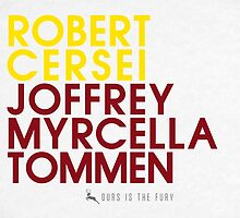 King Robert Baratheon Typography series II by P3RF3KT