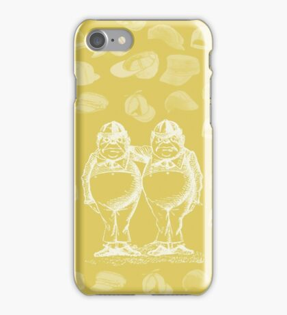 Tweedledum, Tweedledee and Caps. iPhone Case/Skin