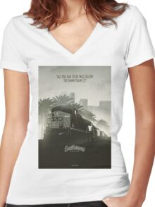 The San Women's Fitted V-Neck T-Shirt