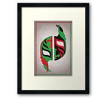 """Máscara Misteriosa"" Wrestling Design (White) Framed Print"