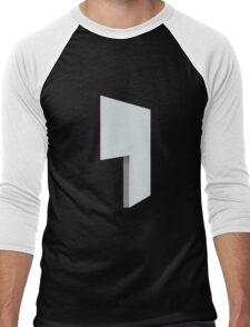 Glitch Homes Wallpaper lightblue stucco left divide Men's Baseball ¾ T-Shirt