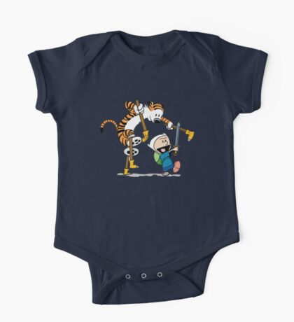hobbes and calvin time advanture One Piece - Short Sleeve