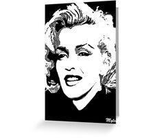 Marilyn in Black and White #4 Greeting Card