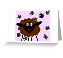 Hypnotised Sheep with the Robot Master Greeting Card