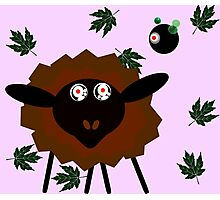 Hypnotised Sheep with the Robot Master Photographic Print