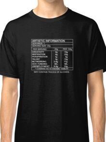 Artistic Information Chart (White Print) Classic T-Shirt