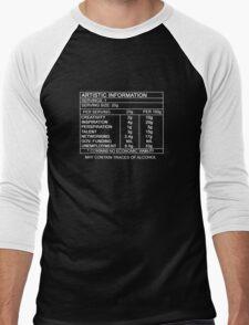 Artistic Information Chart (White Print) Men's Baseball ¾ T-Shirt