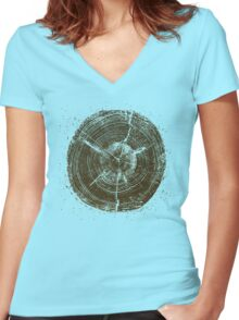 Timber Women's Fitted V-Neck T-Shirt