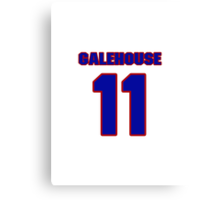 National baseball player Denny Galehouse jersey 11 Canvas Print